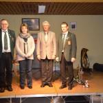 30 Jahre beim Musikverein: Martin Lampert, Bettina Breuner, Jürgen Weiß