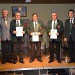 40 Jahre beim Musikverein: Gerd Rinck, Edgar Karch und Klaus Würtz