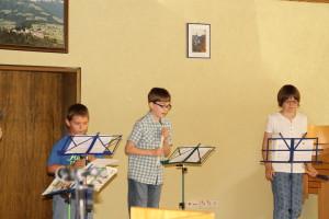 Die Flötengruppe beim Jugendvorspielnachmittag 2015